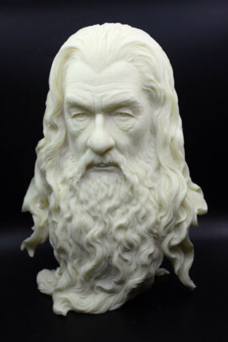 """Lord of the Rings Hobbit The Gandalf Paint Color Resin Bust Statue 12""""H"""