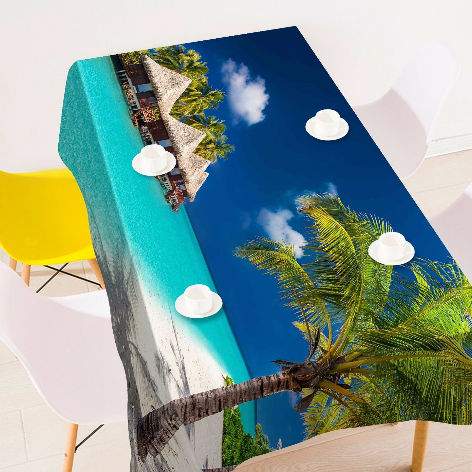 3D Beach tree9 Tablecloth Table Cover Cloth Birthday Party Event AJ WALLPAPER AU