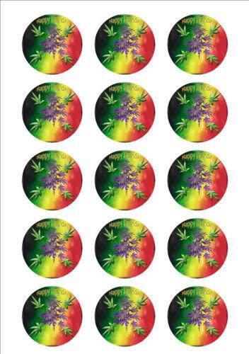 Marijuana Personalized Edible Print Premium Cake Topper Frosting Sheets 5 Sizes