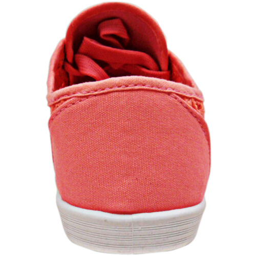 NEW WOMENS LADIES FLAT LACE UP SIDE CROCHET CANVAS PUMPS TRAINERS SHOES SIZE