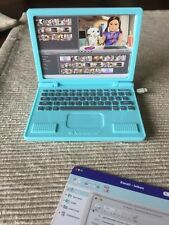 """American Girl Z Yang laptop computer screen prints from desk set 18"""" doll NEW"""