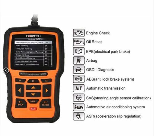 FOXWELL NT510 OBD2 Auto Fault Code Reader Reset Diagnostic Scan Tool Fits FORD