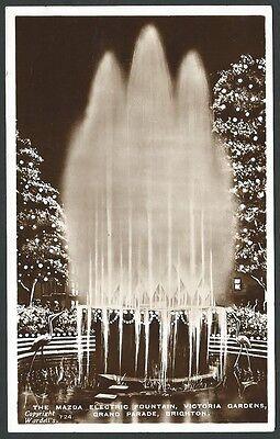 Brighton Sussex The Mazda Fountain 1953 Wardell Real Photo Postcard