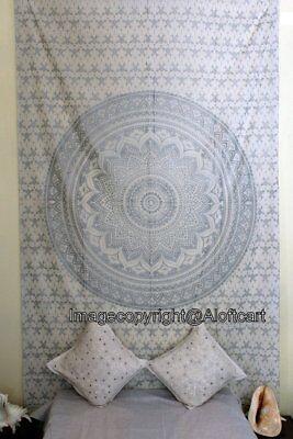 Popular Silver Ombre Mandala Hippie Wall Hanging Bohemian Shine Beach Tapestries