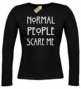 Womens-Normal-People-Scare-Me-T-Shirt-funny-goth-rock-punk-emo-ladies-long-top