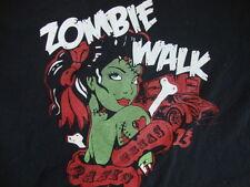 Zombie Walk Sexy Halloween Girl Paris Texas Metal Black T Shirt Men's Size L