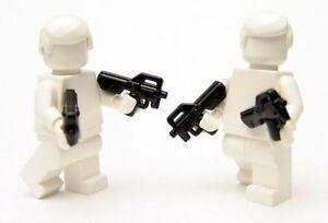Brickarms Combat PDW Gun for Lego Minifigures 5 Pack Black