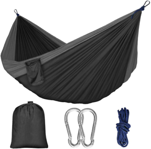 Hammock Camping Single Double with Mosquito/Bug Net and Tree Straps Carabine