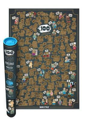 Scratch off fun interactive poster 101 RETIREMENT things to do SKRATKZ