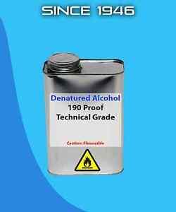 Details about Denatured Alcohol 190 Proof - Quart - Technical Grade -  Solvent