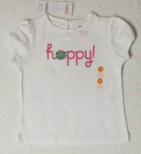 NWT Size 4T 4 Yrs Gymboree BRIGHT TULIPS White S/S Happy! Frog Face T-Shirt Top