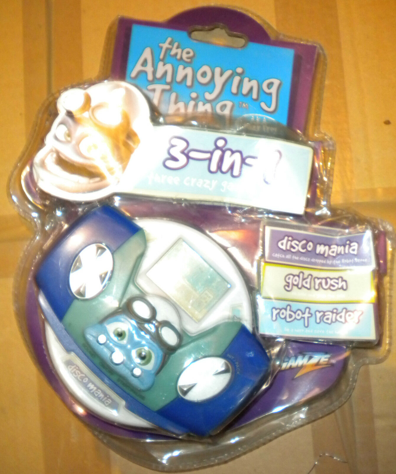 2006 GAMZE THE ANNOYING THING 3 IN 1 ELECTRONIC GAME HAND HELD MOC MINT