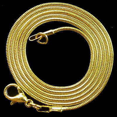 plated-gold snake chain necklace 10 pcs