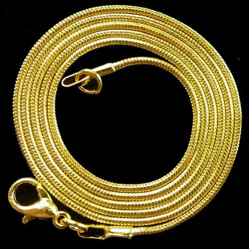 Plaqué or-chaîne serpent Collier 10 pcs