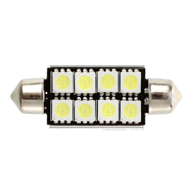 2 pcs Canbus Festoon 8 SMD LED 211 C5W Festoon Lamp 43 mm HY