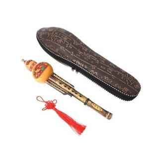 Bambou Chinois Hulusi ethnique Gourd Flûte C Clé Instrument de musique avec étui