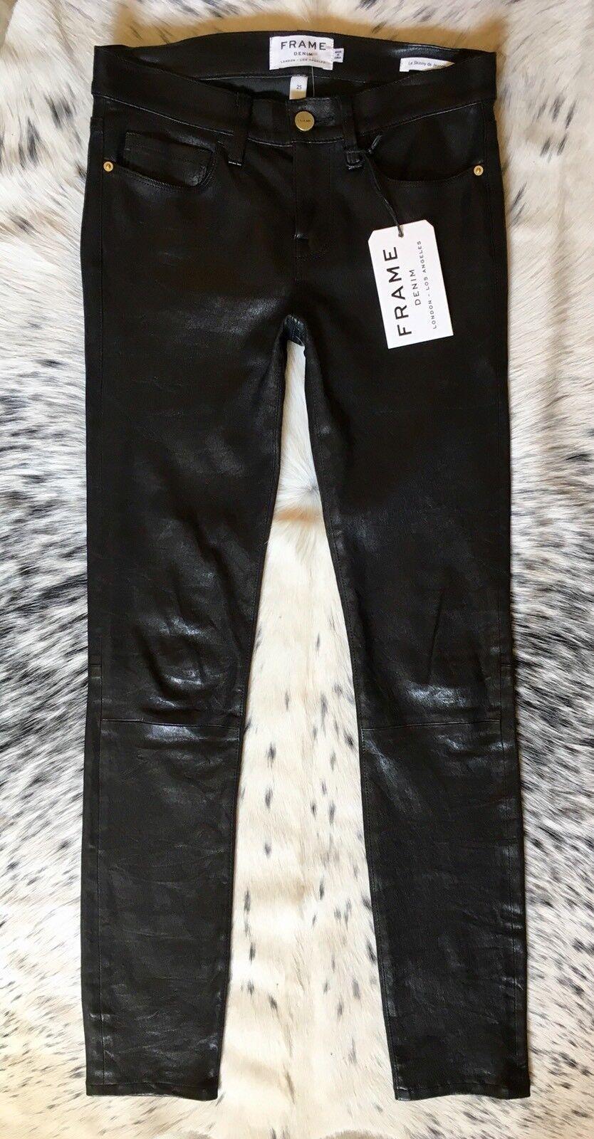 Marco Vaqueros  Le Flaco   Pantalones Cuero, Talla 25 Lavado Negro Mejor Fit Ever  barato