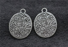 10//40//200pcs Antique Silver exquisite Flower Jewelry Charms Pendant DIY 21x15mm