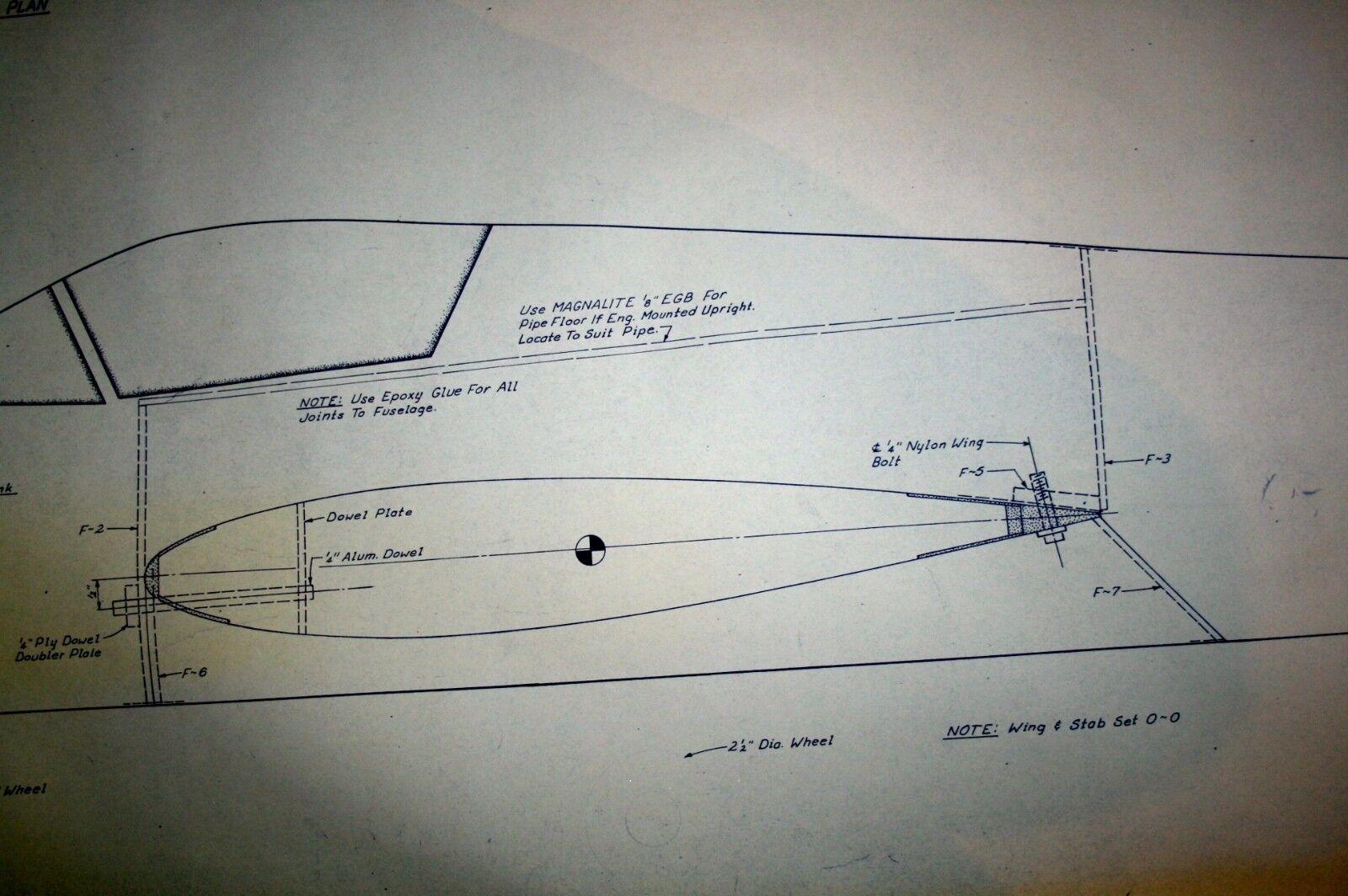 Brushfire Brushfire Brushfire Plus Pattern RC Model Airplane Sport Plane Plans Mold PLUG Atlanta VTG ee75f0