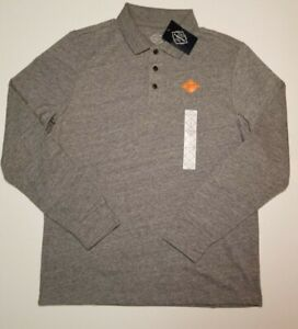 St-Johns-Bay-Men-039-s-Medium-Gray-Heather-Long-Sleeve-Legacy-Polo-Shirt-M-L-XL-XXL