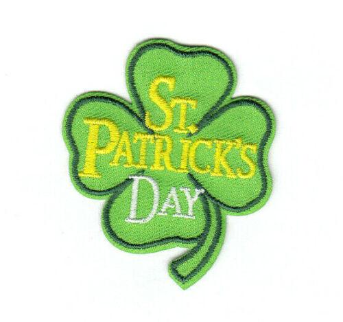 PATRICK/'S DAY Iron On Patch Clovers Pot of Gold Celebration Holiday ST