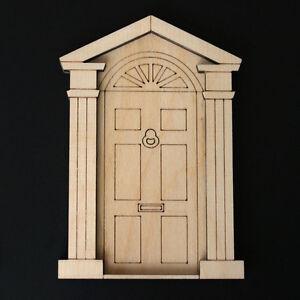Wooden fairy elf pixie door shape blank craft kit georgian for Wooden elf door