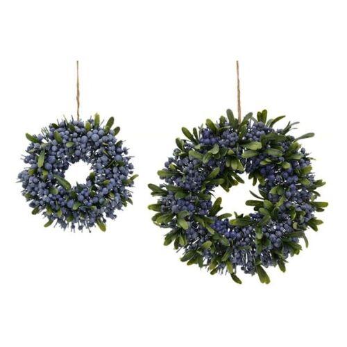 Wreath türkranz Dekokranz Blue Berries 25 cm Art Flower B-Ware