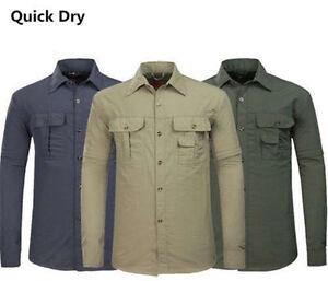 Mens-Casual-Quick-Dry-Jacket-Fishing-Shirt-Anti-UV-Sun-Protection-Hiking-Shirt