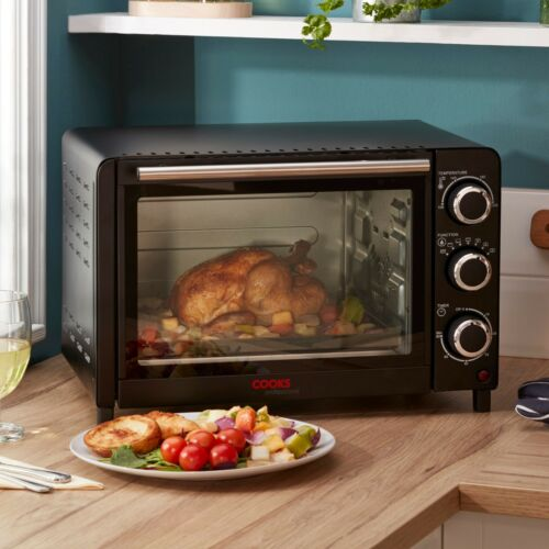Cooks Professional Mini Oven 20L Table Top Cooker Baking Grill 1200W /& Wire Rack