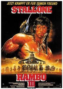 Rambo Iii 1988 Sylvester Stallone Movie Poster Print 2