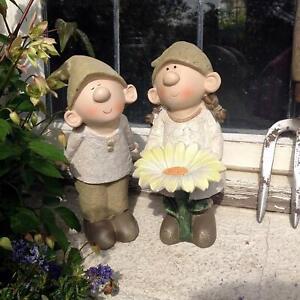 Bill And Beryl Elves Standing Daisy, Garden Ornament, Gnome, Garden Fairy, Troll