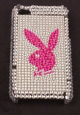 Play Boy Mobile Phone Cover for 4G/4GS Silver Bling with Pink Bunny