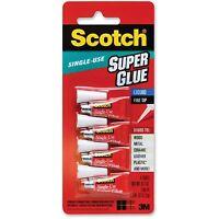 3m Super Glue Single Use Pointed Tip .07oz. 4/pk Clear Ad114