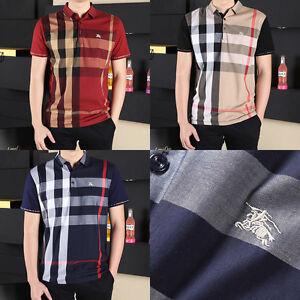 Burberry Brit Men Casual Short Sleeve Polo Shirt Men T-Shirt Size M L XL 2XL 3XL