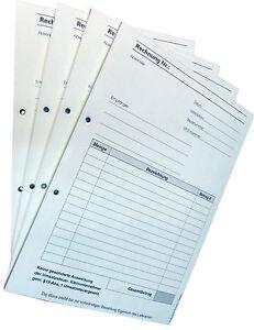 1x Rechnungsblock Kleinunternehmer Din A4 Sd 2x50 Blatt Rechnung