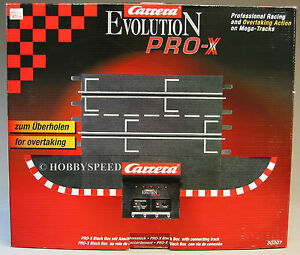 Carrera Evo Pro X Black Box Connecting Track Section Slot Car