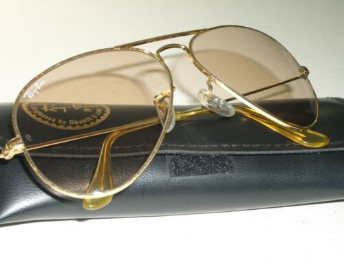 1980's 58[]14 VINTAGE B&L RAY-BAN ARISTA BROWN PHO