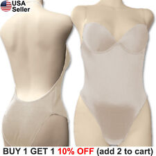 6ad92e7e5 Backless Full Body Shaper Bikini Convertible Seamless Low Back Max Cleavage  9008