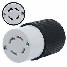 30 Amps NEMA L14-30r Twist Lock 4 Wire Electrical Female Plug Receptacle Cord