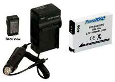 Battery + Charger for Samsung 4302-001221 4302001221 HMX-U10SN HMXU10SN HMXU100