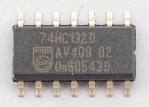 Lot of 10 74HC132 Quad 2-input NAND Gate w//Schmitt Trigger Input SO14