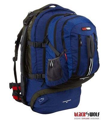 BLACK WOLF CEDAR BREAKS 75 LITRE Backpack Travel Hiking Bag
