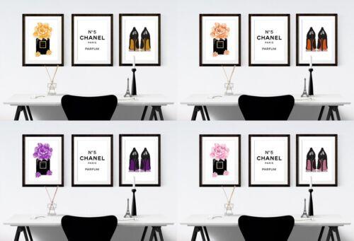 Fashion Prints Set of 3 Poster Wall Art A4 Boutique Women Gift Girly Salon 105
