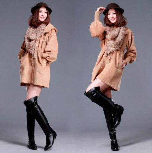 Stivali pelle vera donna Stivali Fur con in equitazione il sopra da ginocchio fibbia Warmboots da rZIRqxwr