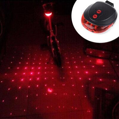 Safety Warning Bike Tail Red Laser Light Cool Bicycle Rear LED Flashing Lamp