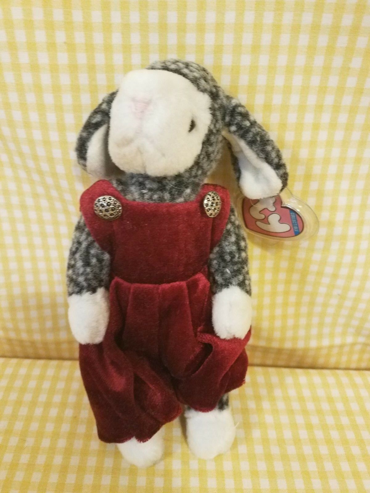 Ty Ty Ty Attic Treasures Lilly The Lamb Vintage W JUMPSUIT MWT Rare Plush Mwt e51ccd
