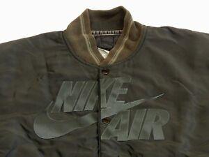 Détails sur Nike Air 72 Old School Bomber Décontracté Veste Rap Noir Hip Hip Taille:M Rareté