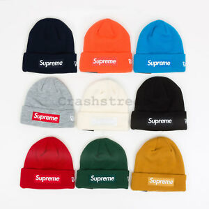 899b7479 Supreme FW18 New Era Box Logo Beanie cap camp logo shirt box hat tee ...