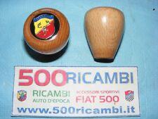 FIAT 500 F/L/R POMELLO CAMBIO IN LEGNO + LOGO ABARTH SCORPIONE SPORTIVO