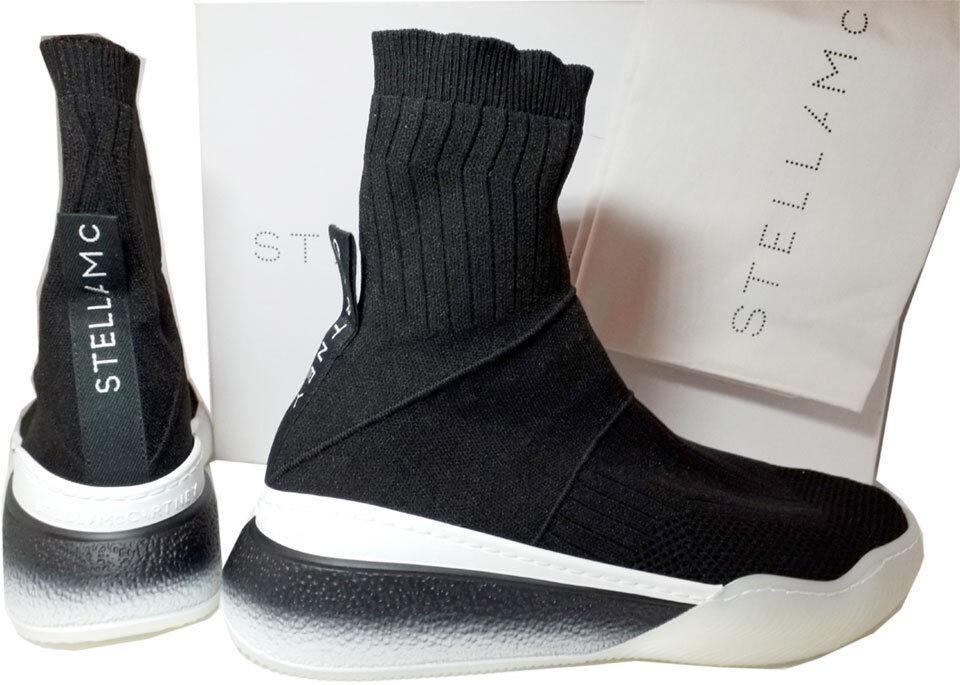 Stella McCartney McCartney McCartney Stretch-Knit Alpargatas Negro Runner Zapatillas Botines 39  tiempo libre